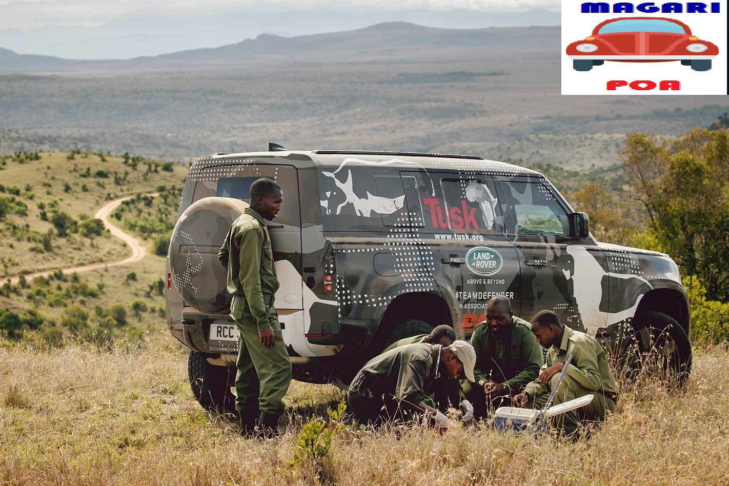Leaked photos of the new Land Rover Defender prototype being tested in Kenya