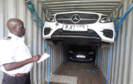 Range Rover and Mercedes concealed as household goods were stolen from the UK says Interpol @KenyaTraffic