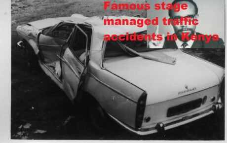 Famous stage-managed traffic accidents in Kenya