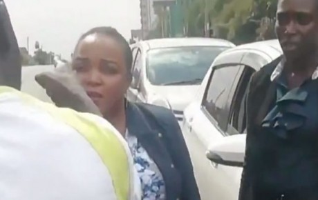 Kirinyaga Women Rep Wangui Ngirici has been forced to apologise to the public after she was caught on camera in an altercation with a road user who confronted her for overlapping and bullying motorists