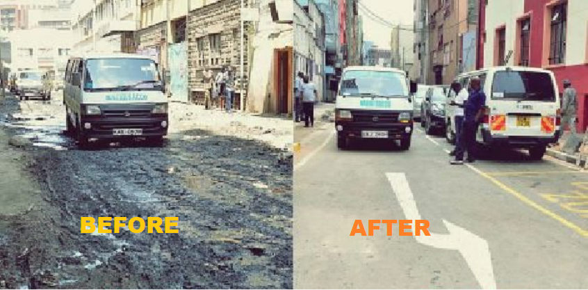 Photos - Nairobi backstreets re-carpeted and clean, you won't believe it