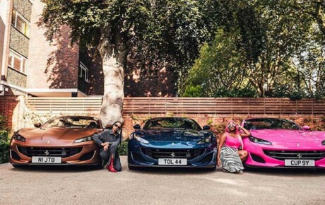 Nigerian tycoon surprised each of his 3 daughters with a Ferrari [PHOTOS]