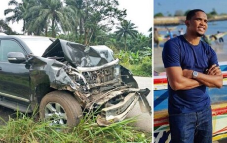 Samuel Etoo the Barcelona legend and former Chelsea star is in hospital after his car was struck by a bus in Cameroon