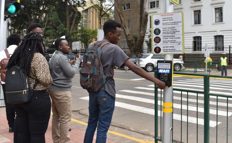There's now smart zebra crossing saving lives in Nairobi CBD