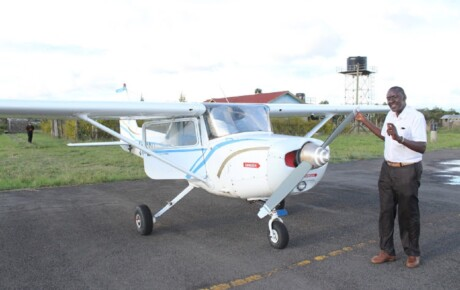 This modern aircraft in Nyeri can fly on petrol