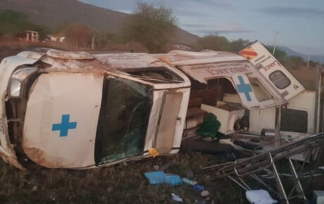 A patient has been killed when the ambulance had an accident on Mombasa highway
