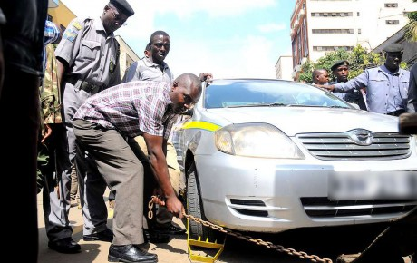 If your car is clamped by Nairobi 'kanjo' you'll now be able to pay the penalties via Mpesa @KenyanTraffic