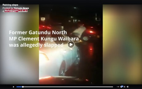Video – Traffic policeman rains blows and kicks on Former Gatundu MP who asked him for directions @KenyanTraffic