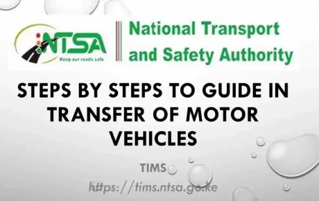 How to Transfer of Car Ownership on NTSA TIMS system