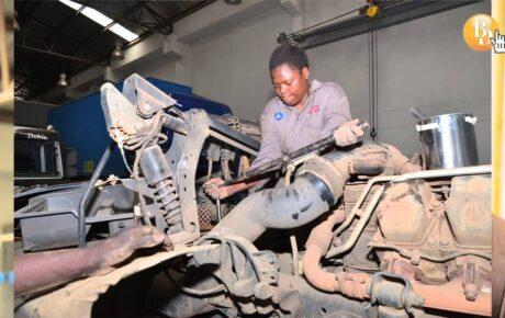 Female mechanic who maintains President Kenyatta's limousine
