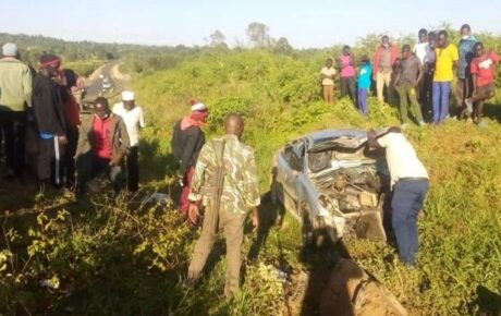 64-year-old boda boda rider and his 73-year-old pillion died when they collided with a car at Nyamira Junction