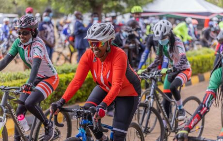Wife of Deputy President William Ruto led over 100 cyclists to mark 'Earth Hour' day