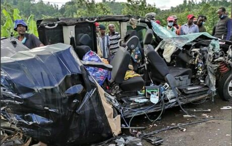The driver of the lorry was trying to overtake the saloon car when they collided killing 2